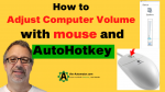 Adjust volume with Mouse