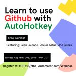 AutoHotkey Github Webinar