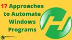 Ways to automate windows programs